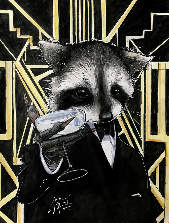 Raccoon Gatsby Drawing