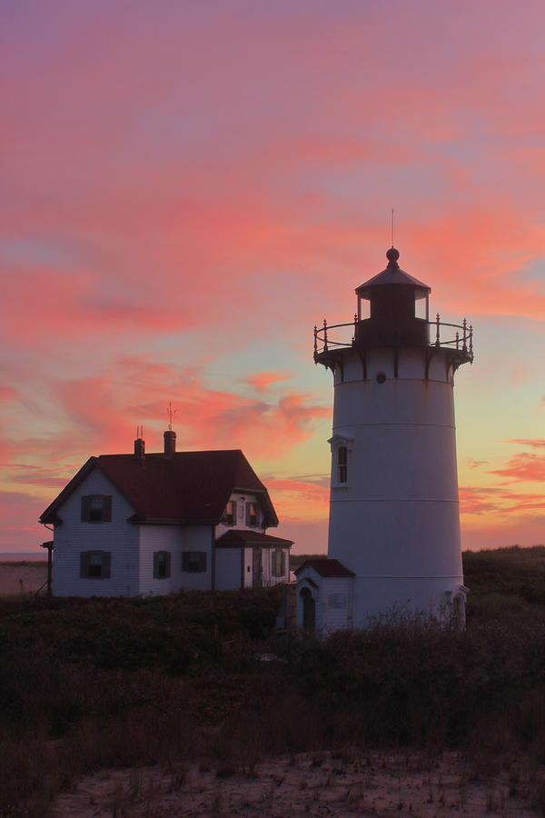 Race Point Lighthouse At Sunset Photograph