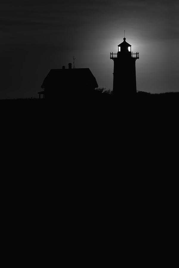 Black And White Photograph - Race Point Lighthouse in Provincetown Black and White Photography by Dapixara Art