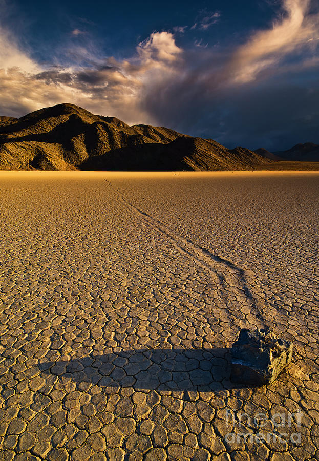 Racetrack Playa sliding rock, Death Valley, California by Neale And Judith Clark