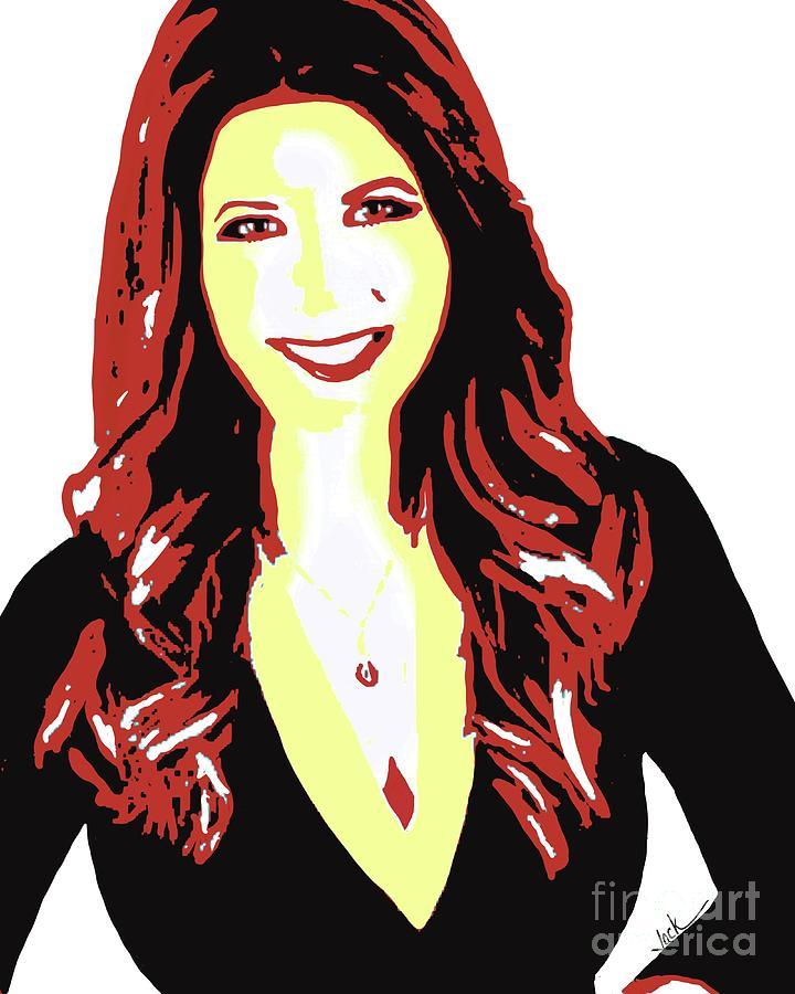 Rachel Nichols Painting - Rachel Nichols 2020 by Jack Bunds