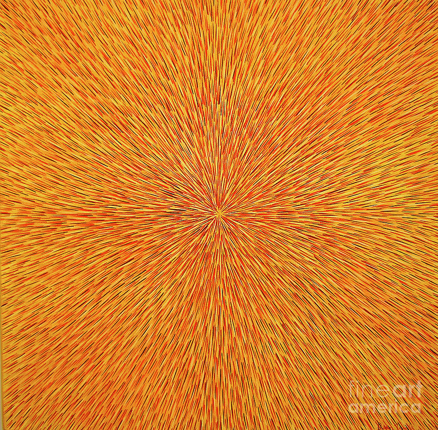 Radiation With Brown, Red And Orange Painting