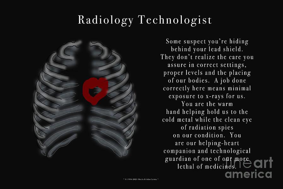 Radiology Technologist Poster Digital Art