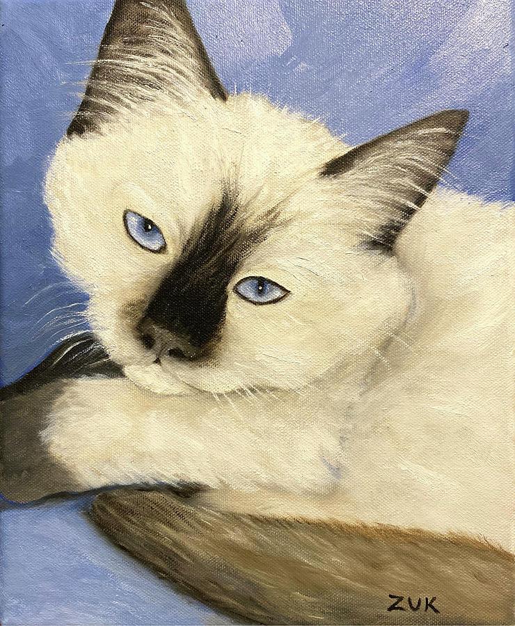 Ragdoll Kitten Painting by Karen Zuk Rosenblatt