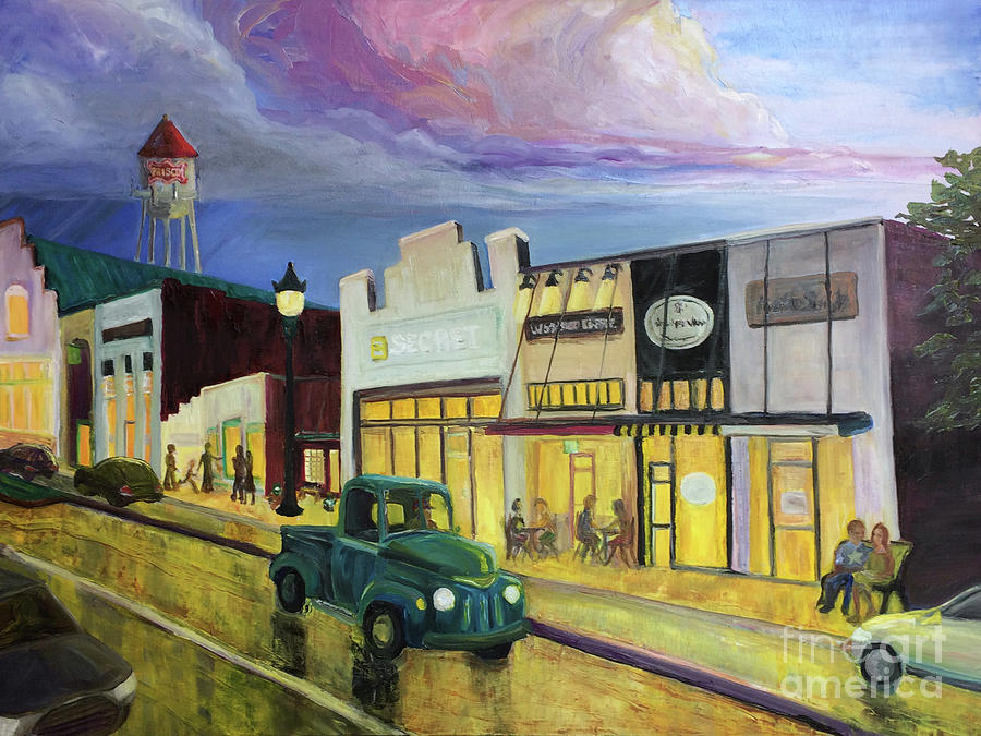Rail District Revival - Art in the Atrium - Frisco, Texas by Donna Hall