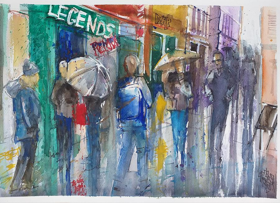 Rain In London Painting