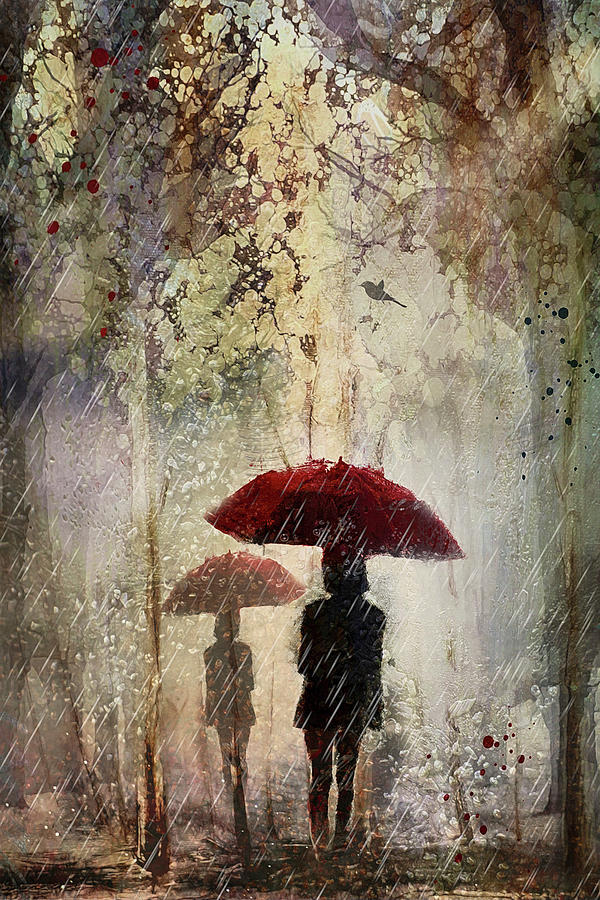 Rain in the park by Maggy Pease