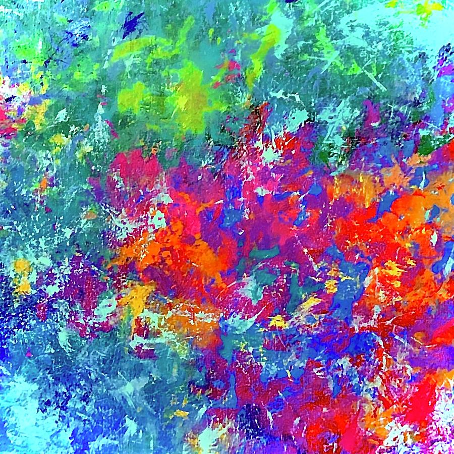 Colorful Painting - Rain On The Garden by Margot Sappern