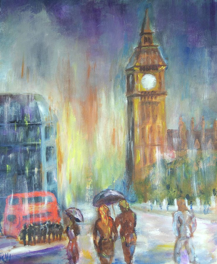 London Painting - Rain by Rich Wagner