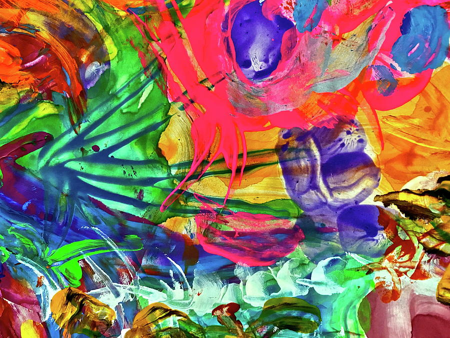 Abstract Painting - Rainbow 6 by Steven Mana Trink