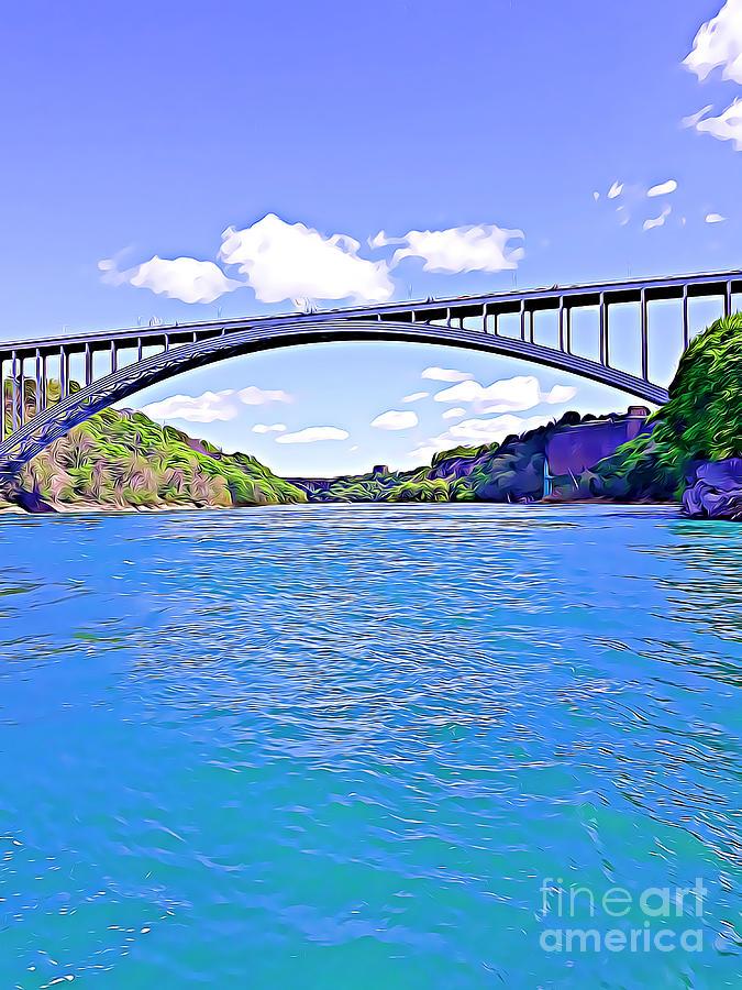 Rainbow Bridge at Niagara Falls by Tracy Ruckman