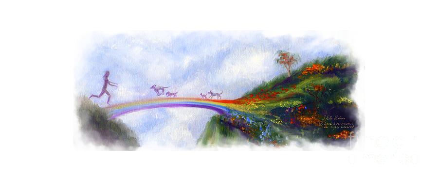 Violano Painting - Rainbow Bridge Vibrant by Stella Violano