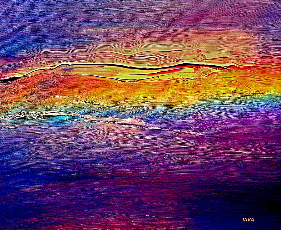 Clouds Painting - Rainbow Clouds Full Spectrum  by VIVA Anderson