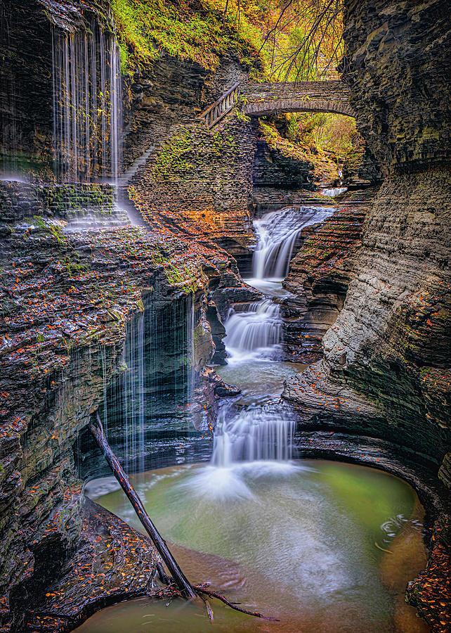 Rainbow Falls Watkins Glen 56 by Harriet Feagin