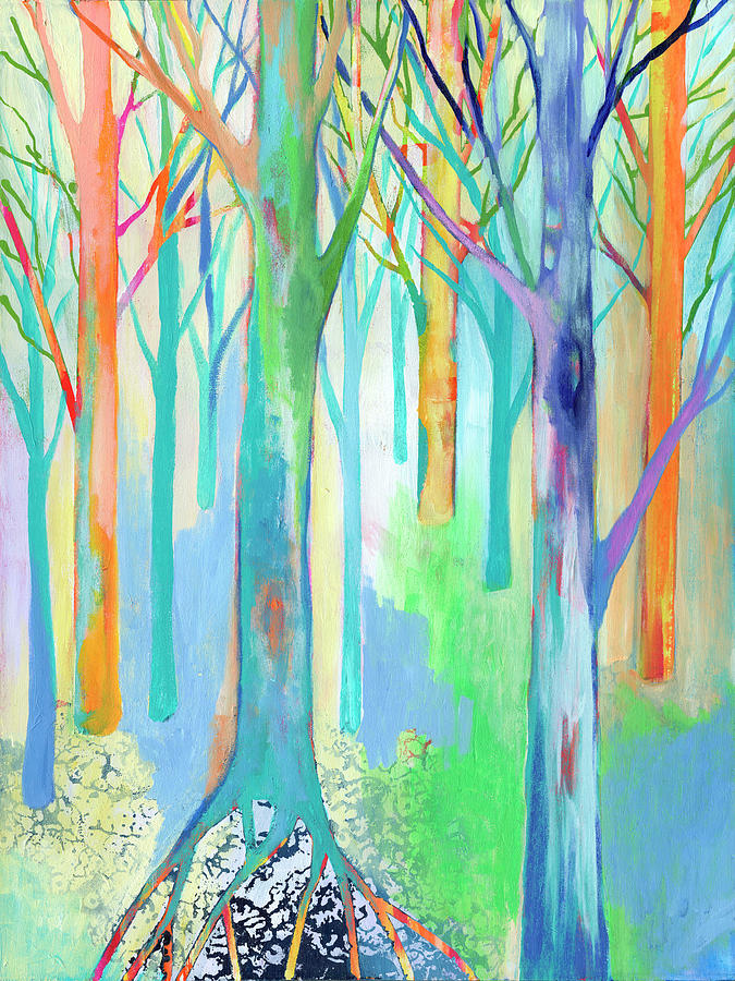 Rainbow Forest I Painting