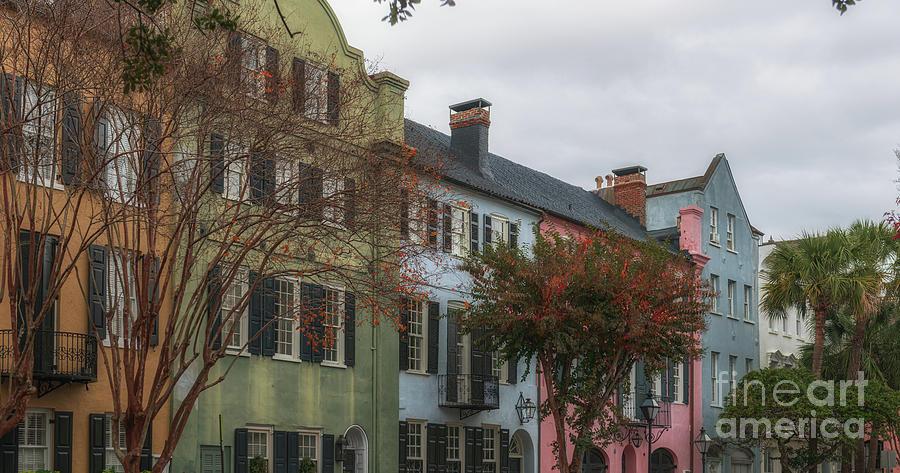 Rainbow Row In Historic Charleston South Carolina - Lowcountry Houses Photograph