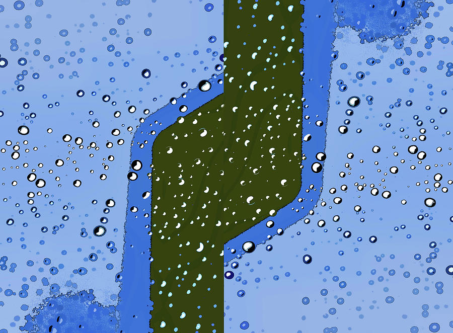 Raindrops 6a  Abstract by Linda Brody