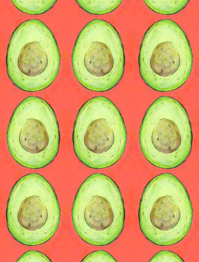 Raining Avocados Digital Art