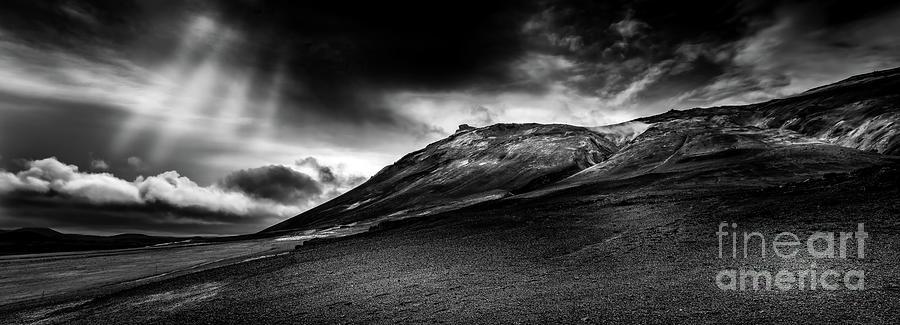 Rainstorm Approaching Krafla Iceland Photograph