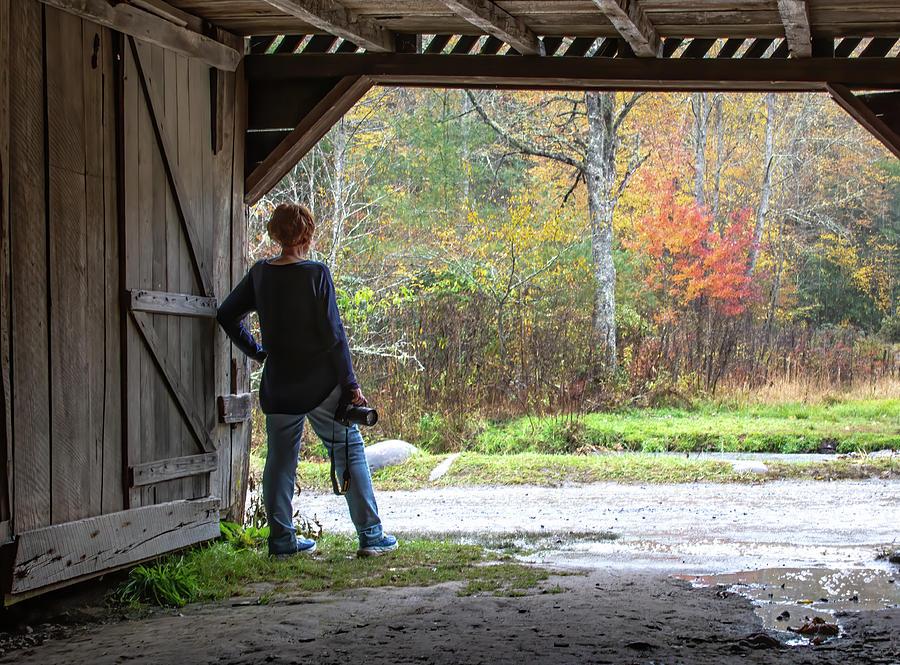 Rainy Autumn Cataloochee by Douglas Wielfaert