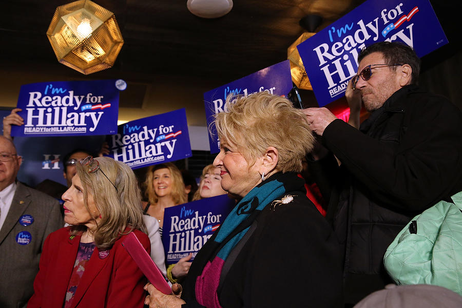 Rally Held In New York For Hillary Clinton Photograph by Spencer Platt