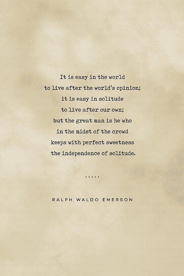 Ralph Waldo Emerson Quote 03 - Typewriter Quote On Old Paper - Literary Poster - Book Lover Gifts Mixed Media