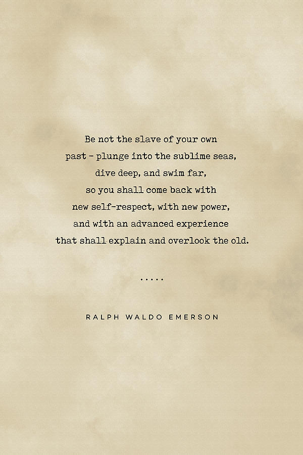 Ralph Waldo Emerson Quote 04 - Typewriter Quote On Old Paper - Literary Poster - Book Lover Gifts Mixed Media