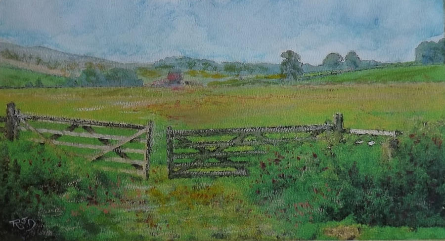Rambling Through South Parks, Peebles              Arks Fields. Painting