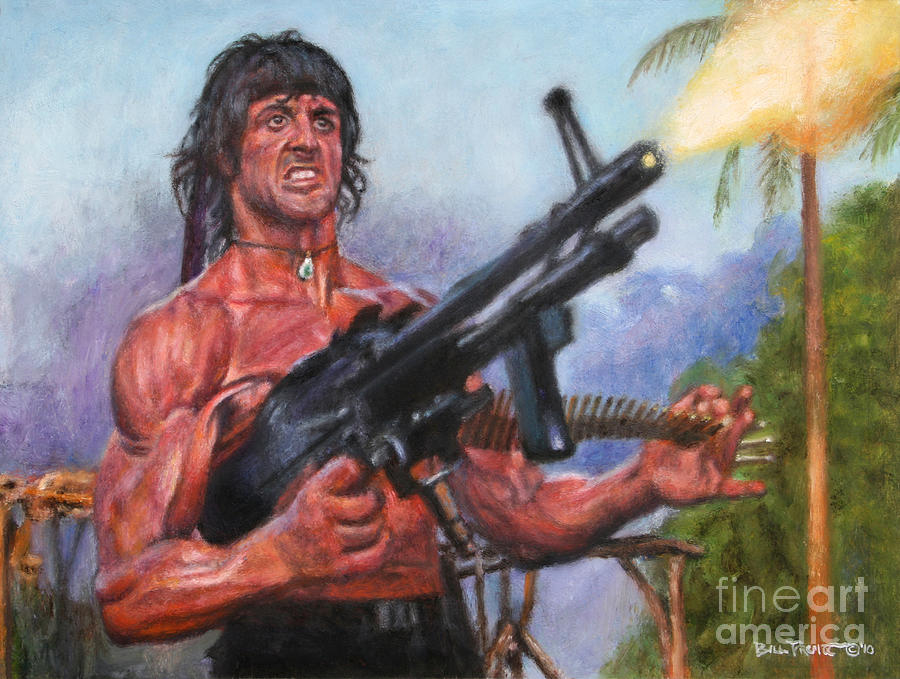 Rambo First Blood 2 Painting By Bill Pruitt