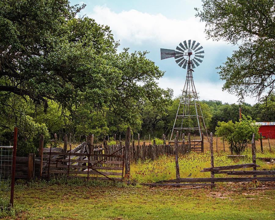 Windmill Photograph - Ranch at Kickapoo by Carol Fox Henrichs