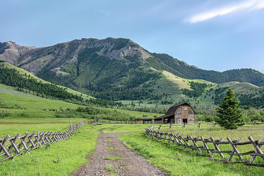 Ranch in Tom Miner Basin by Douglas Wielfaert