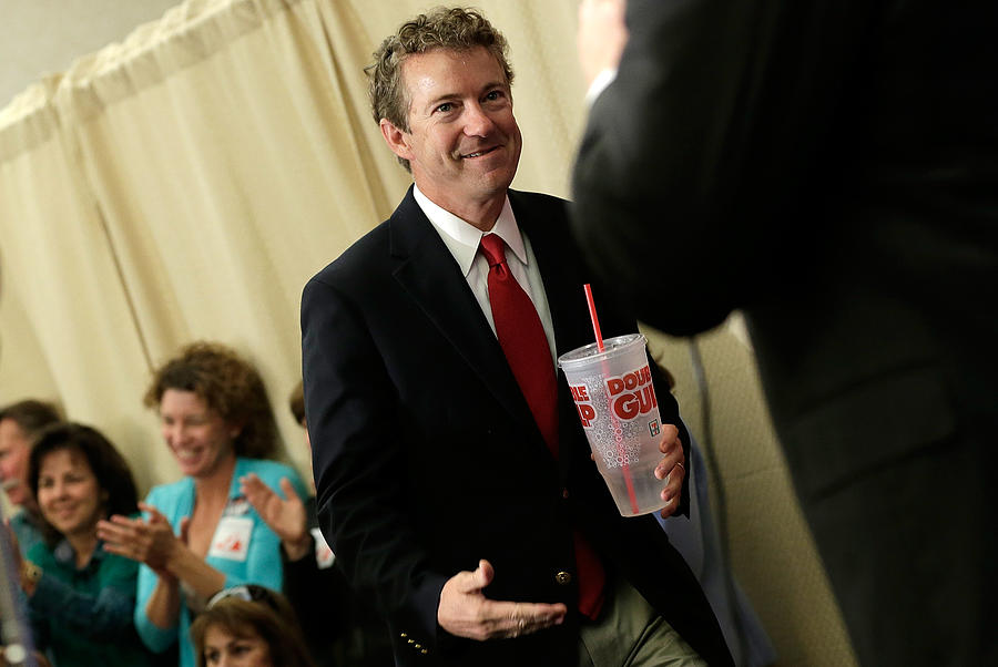 Rand Paul Joins Ken Cuccinelli At Campaign Rally In Virginia Photograph by Win McNamee