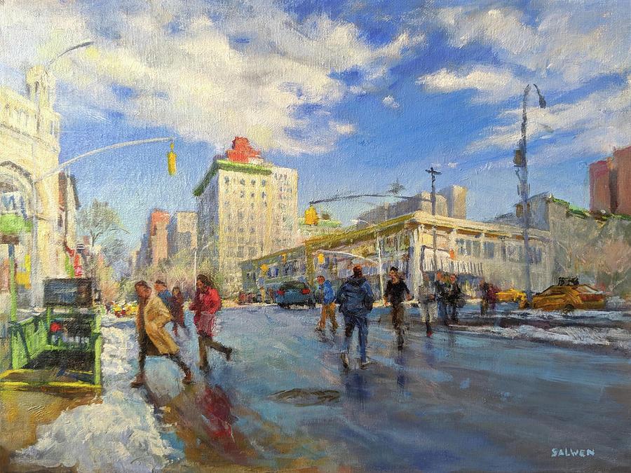 Subway Painting - Rapid Transit by Peter Salwen