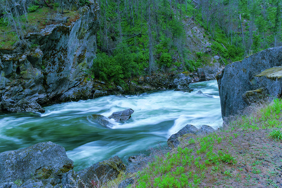 Rapids On The Seleway River Photograph