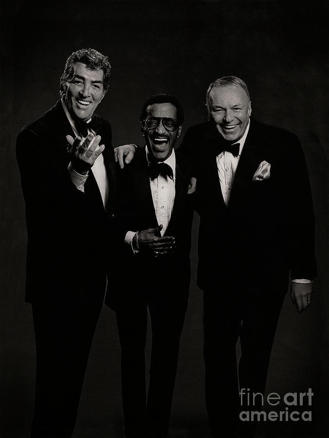 Rare Picture of Frank Sinatra Dean Martin Sammy Davis Jr - Rat Pack by Doc Braham