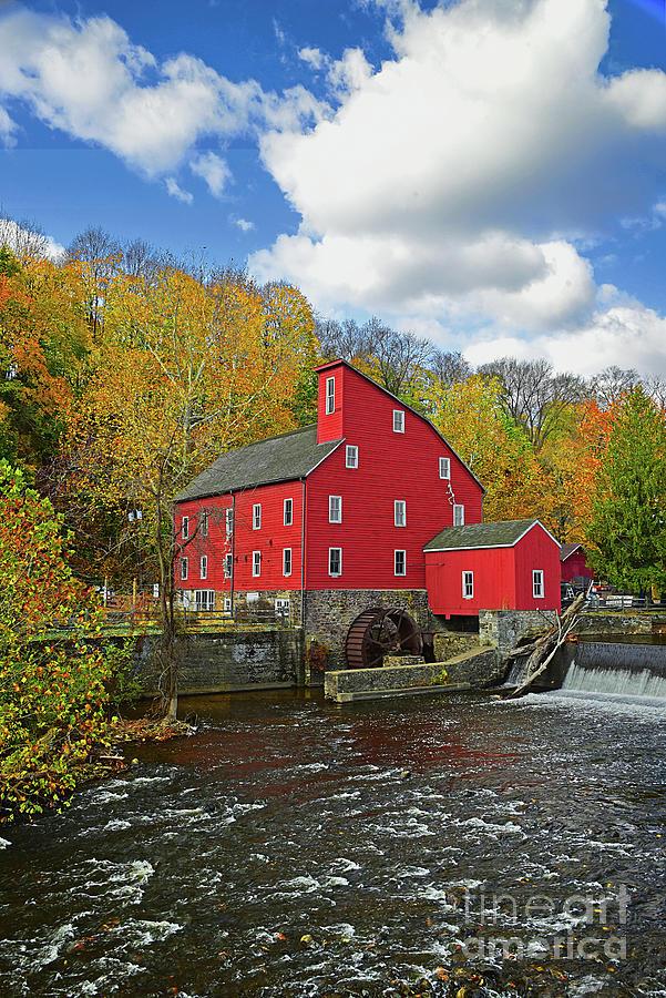 Raritan River Red Mill in Autumn by Regina Geoghan