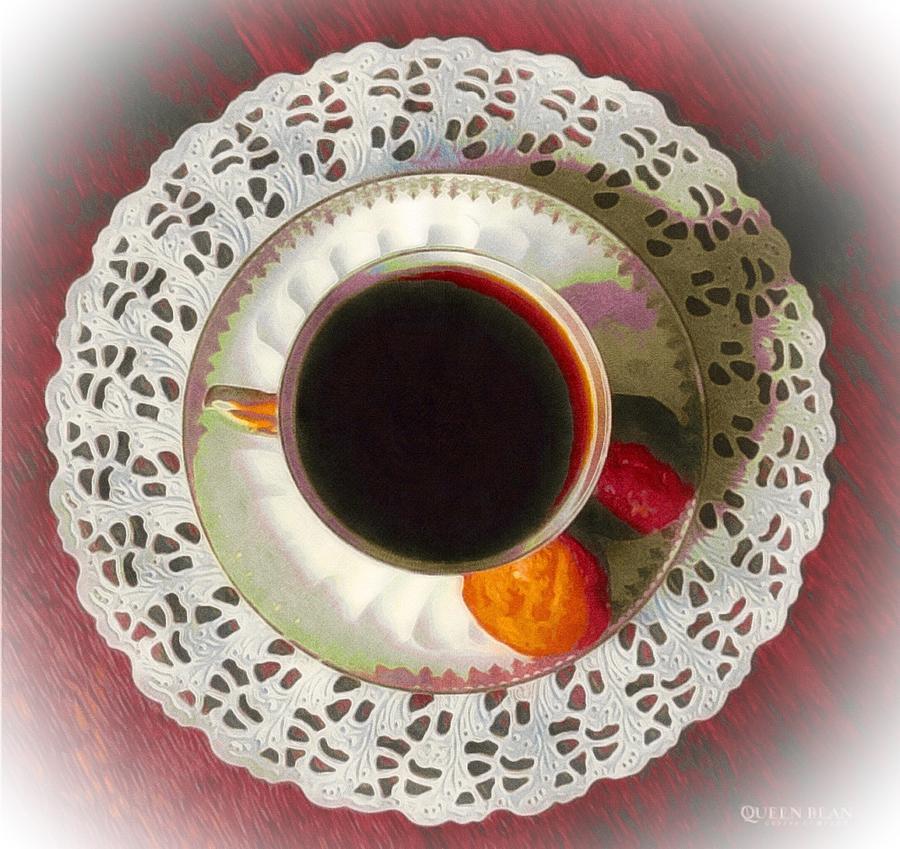 Raspberry Cup Of Tea Photograph