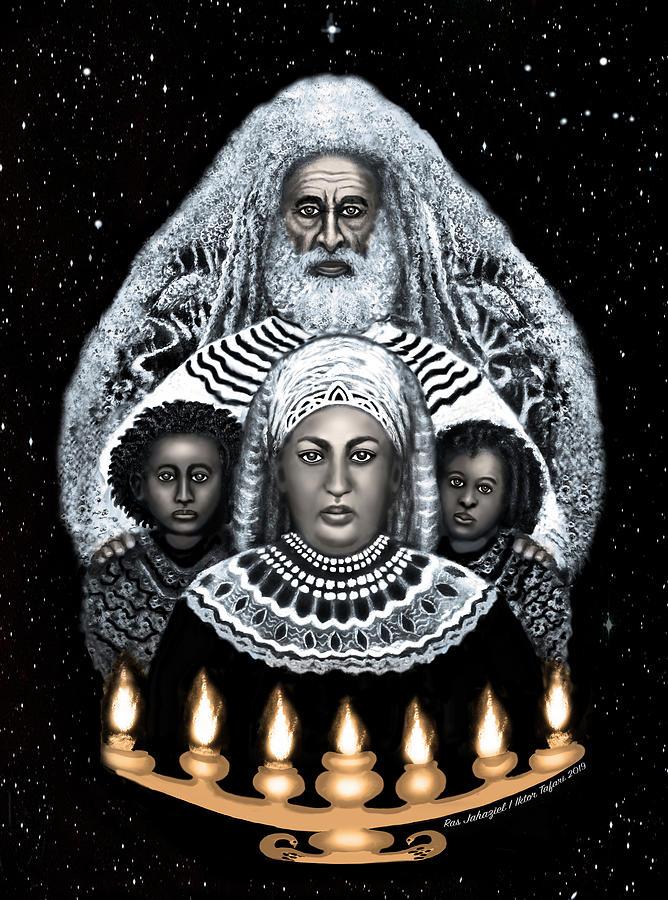 Rastafari Is An Invocation Of God In I And I Drawing by Ras Jahaziel I Iktor Tafari