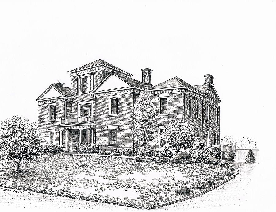 Ravenscroft Building Drawing by Lee Pantas