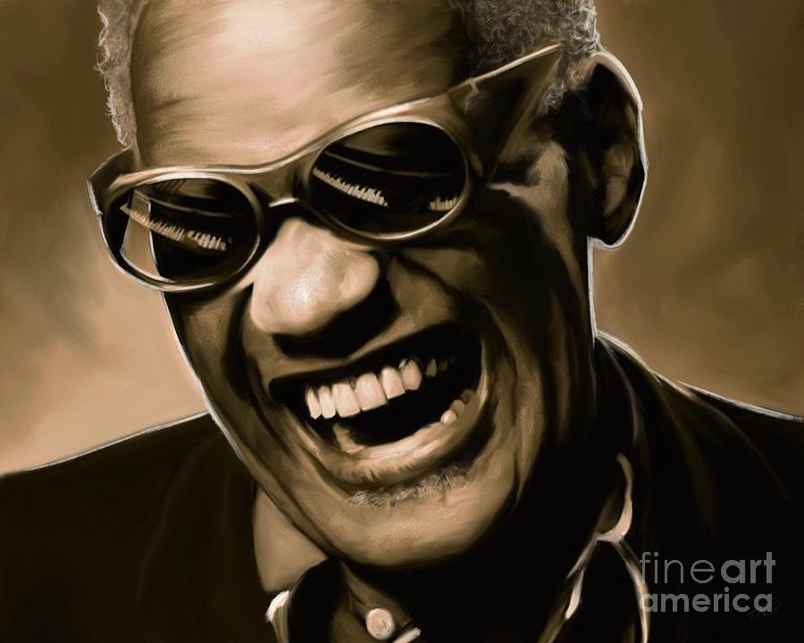 Ray Painting - Ray Charles - Portrait by Paul Tag