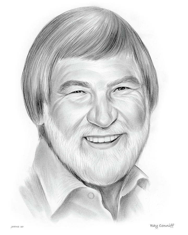 Ray Conniff Drawing - Ray Conniff - Pencil by Greg Joens
