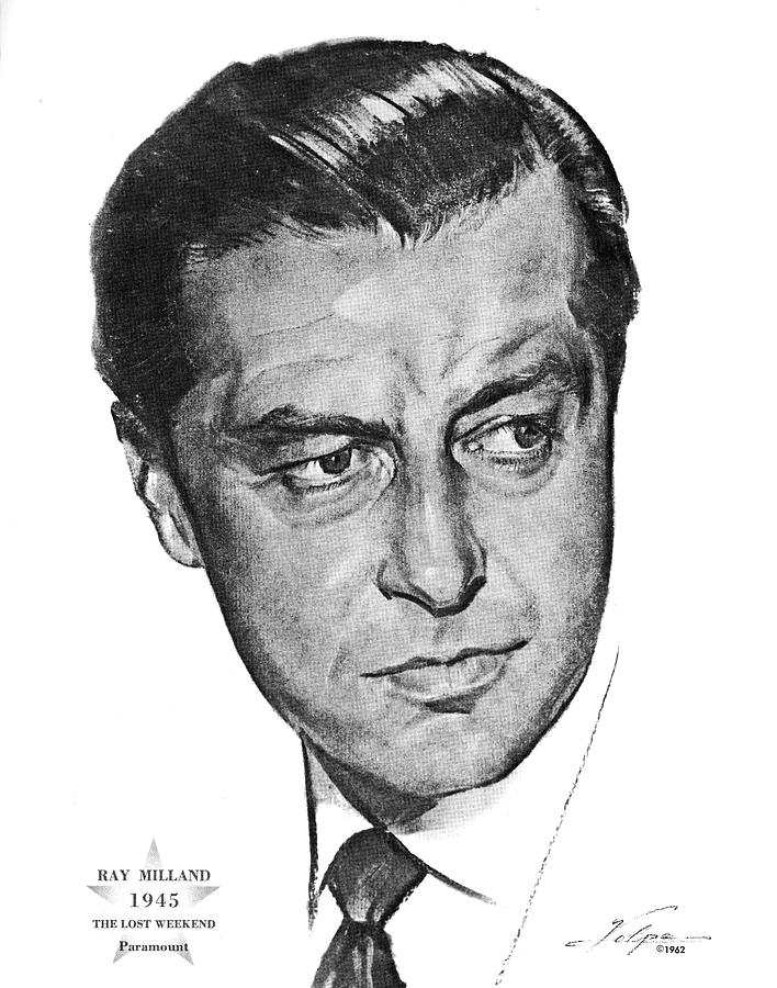 Ray Milland By Volpe Drawing