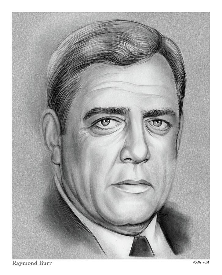 Raymond Burr Drawing - Raymond Burr - pencil by Greg Joens