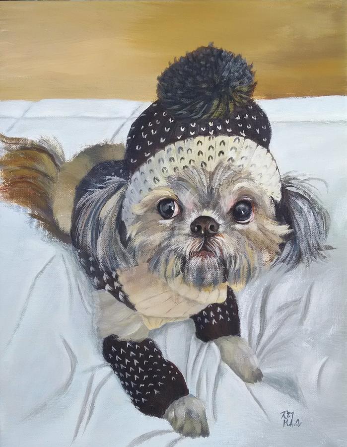 Shih Tzu Painting - Ready Mom by Helian Osher