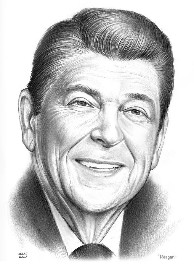 Reagan - Pencil Drawing