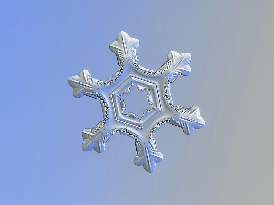 Snowflake Photograph - Real snowflake 2016-01-06_3 by Alexey Kljatov