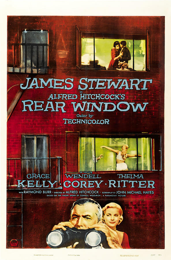 rear Window 2, With James Stewart And Grace Kelly, 1954 Mixed Media