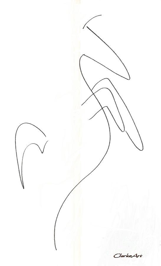 Minimal Horse - Drawing Drawing