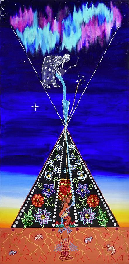Indigenous Painting - Reclamation  by Karlee Fellner