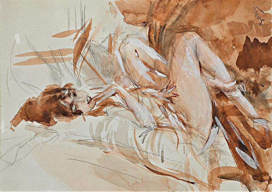 Reclining Lady Painting